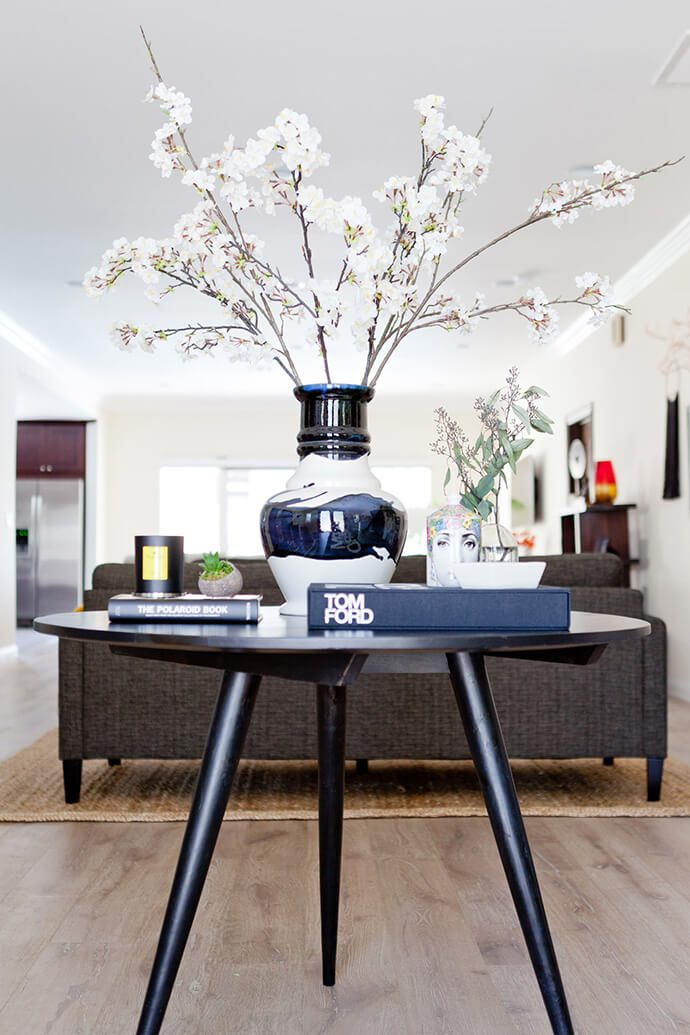 round entryway table