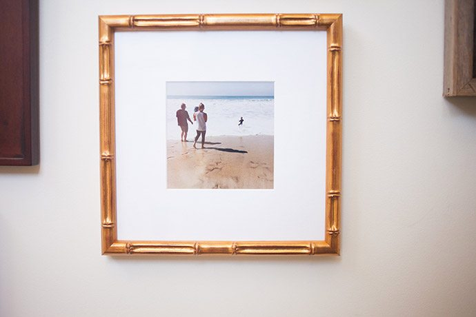gold wall frame