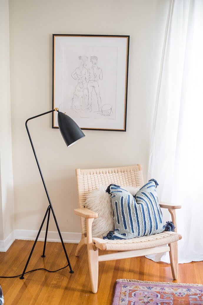 black grasshopper lamp