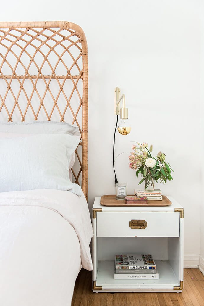 white campaign nightstand