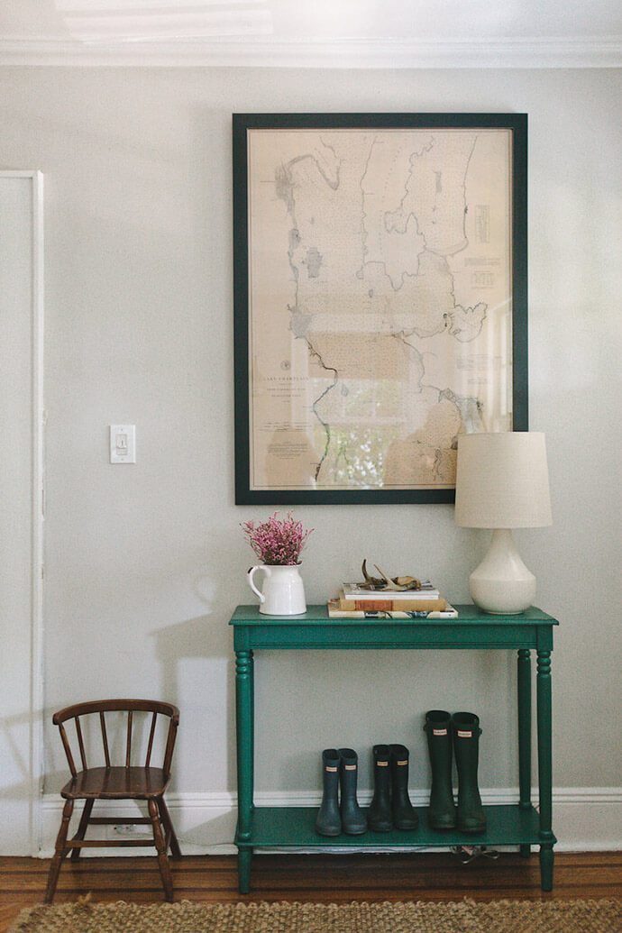 teal entry table