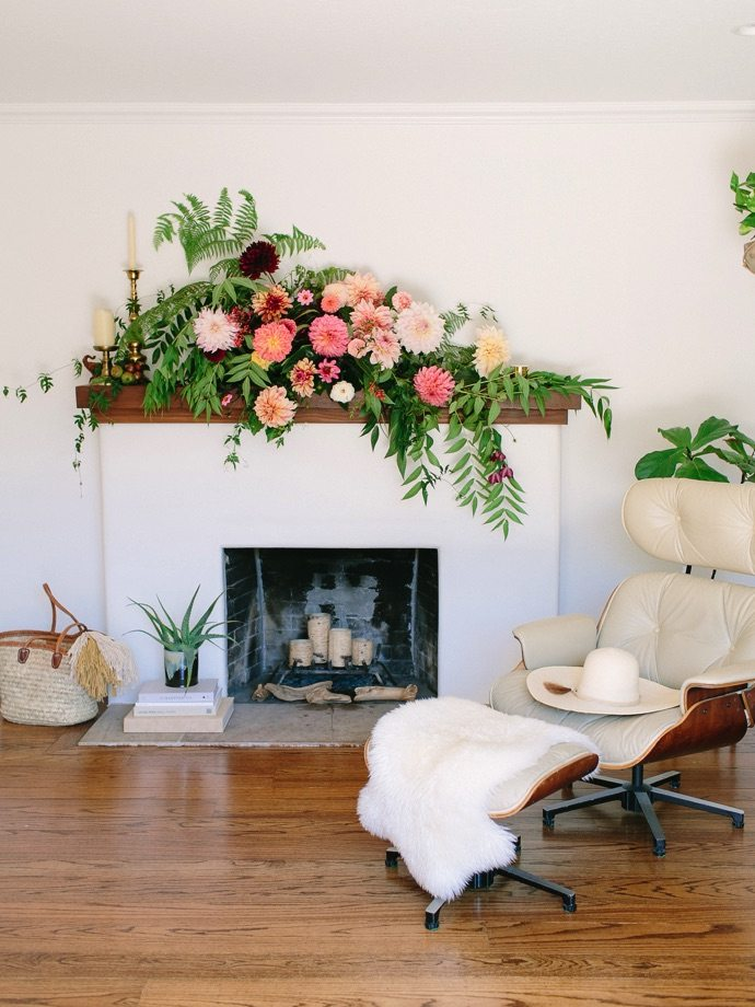 flowers on mantel 1