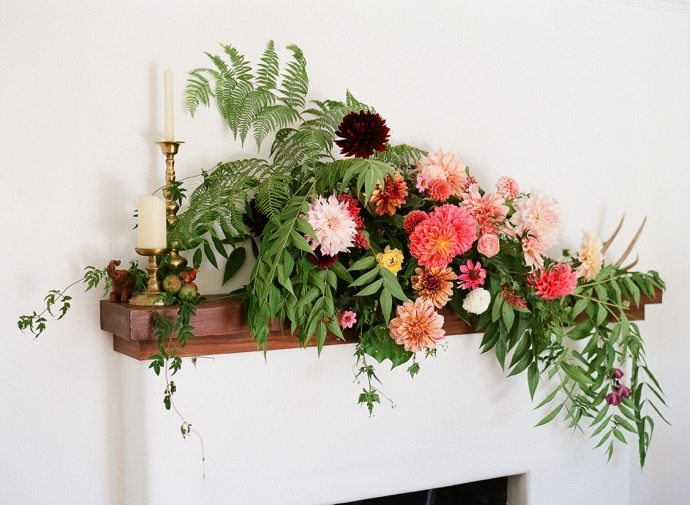 flowers on mantel 3