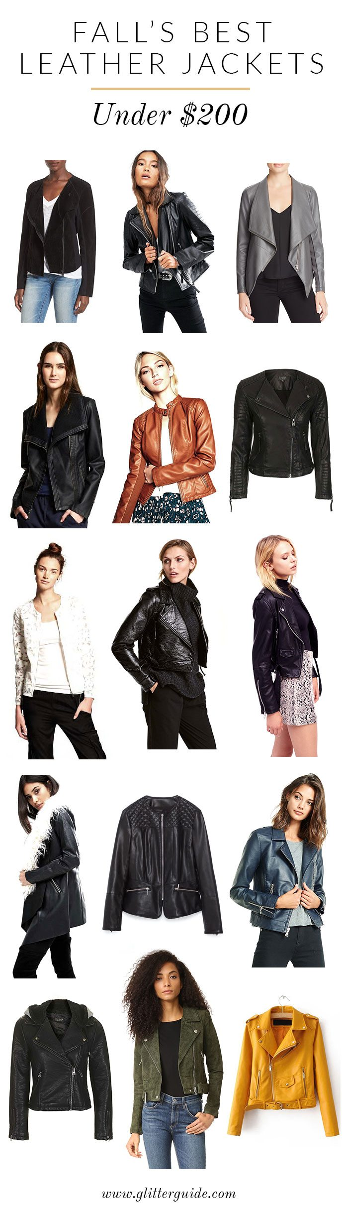 Fall's Best Leather Jackets Under $200