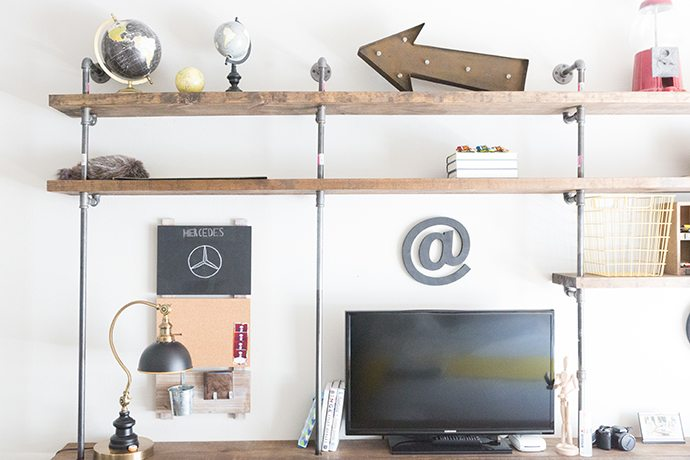 exposed shelving