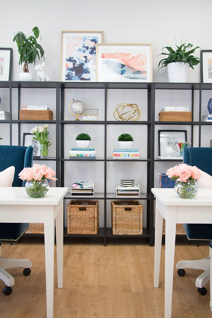 How To Style Your Office Shelves
