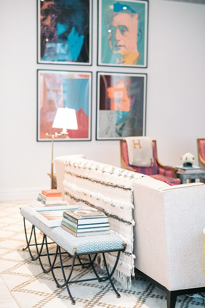 Nailhead trim on a couch
