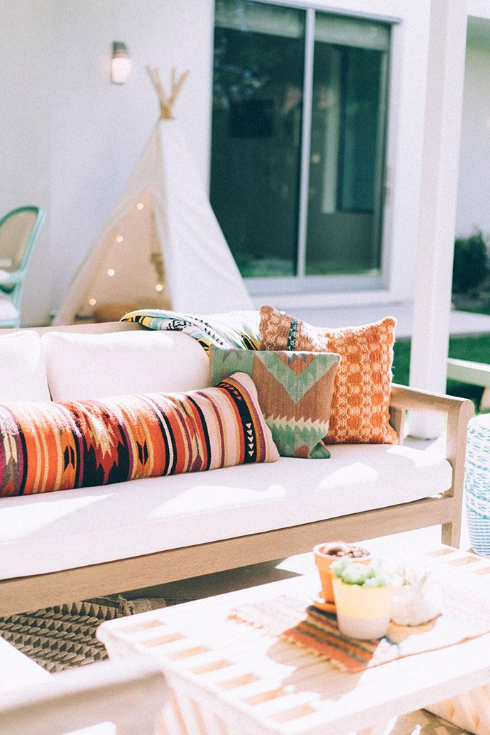 Boho outdoor living room