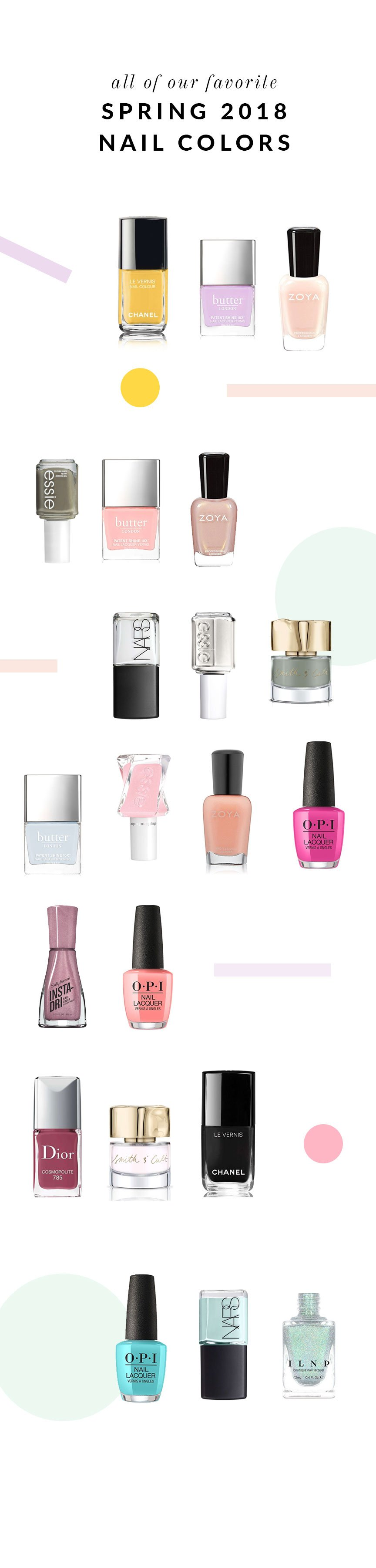 All Of Our Favorite Spring 2018 Nail Colors   Glitter Guide
