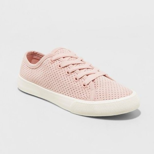pink target lace up sneaker for spring
